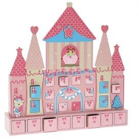 Pink Princess Wooden Castle Advent Calendar