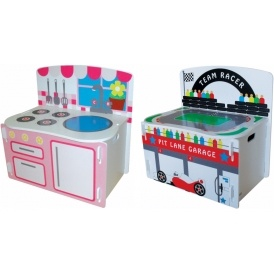 Kidsaw 3-in-1 Playbox Kitchen / Racetrack
