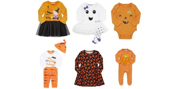 Baby & Kids Halloween Clothing From £1.50 @ F&F