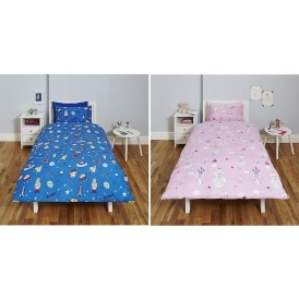 Kids Space or Fairy Single Duvet Cover £6