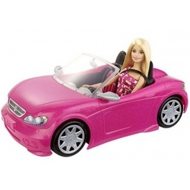 Barbie Convertible Car & Doll Playset £12.50