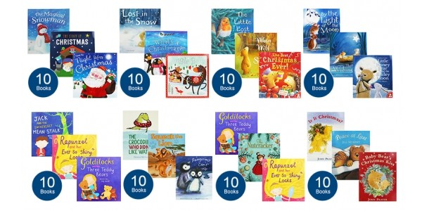 Collection of 10 Books Including Christmas Books For Just £10 @ The Works