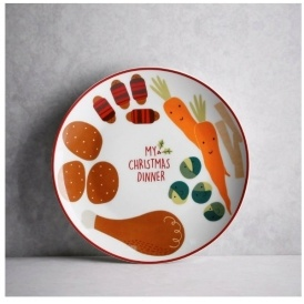 Kids My Christmas Dinner Plate 163 2 Matalan