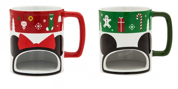 Mickey Or Minnie Christmas Cookie Holder Mugs £10.99 With FREE Delivery @ The Disney Store (Expired)