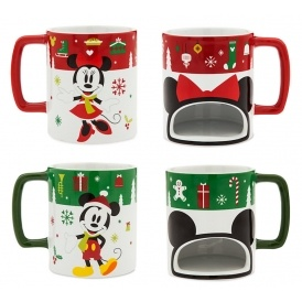 Disney Christmas Cookie Holder Mugs