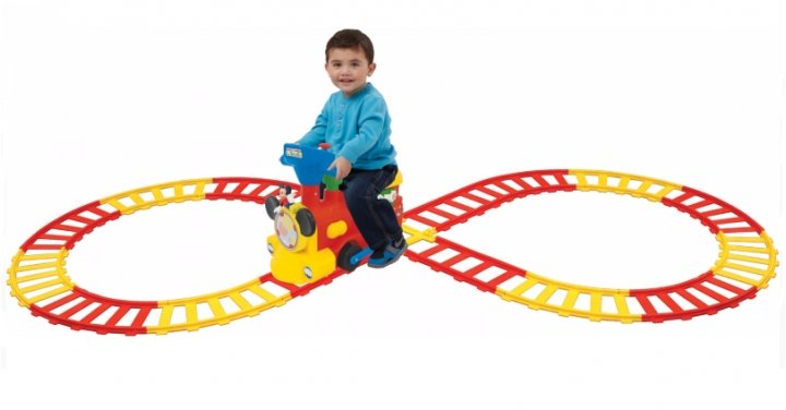 2-in-1 Battery-Powered Mickey Mouse Activity Choo Choo ...
