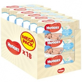 Huggies Pure Wipes 18 Pack £9