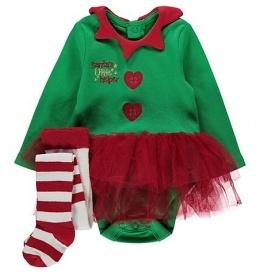 Christmas Elf Bodysuit Tutu Set £7