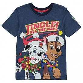 Paw Patrol Christmas T-shirt From £5