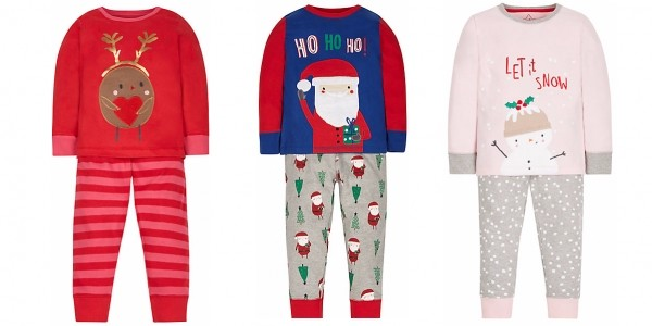 Christmas Pyjamas Reduced @ Mothercare