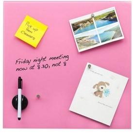 glass magnetic memo board with magnets eraser dry wipe pen tesco direct. Black Bedroom Furniture Sets. Home Design Ideas