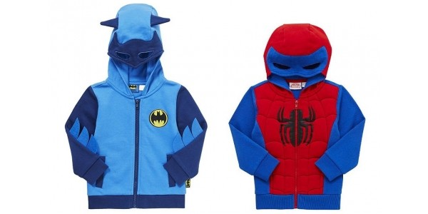 Batman & Spider-man Hoodies £10 @ Tesco Direct