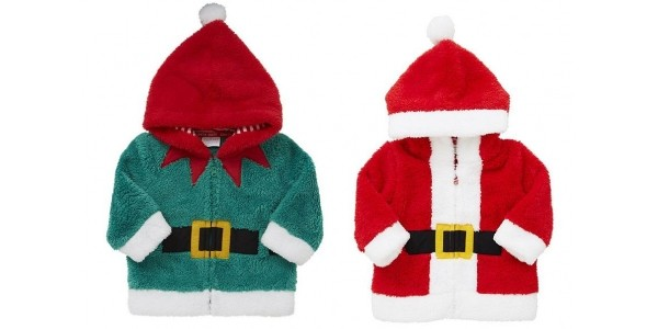 Elf or Santa Baby Fleece Hoodies £6 @ Tesco Direct
