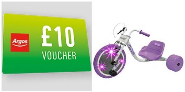 FREE £5/£10 Voucher WYS £50/£100 @ Argos