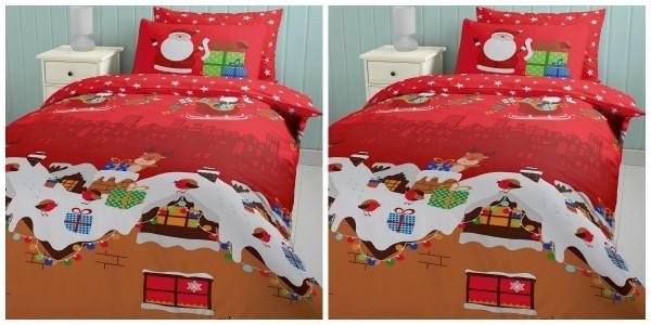 Catherine Lansfield Christmas Santa's Christmas Presents Double Duvet Set £14.50 Delivered @ Tesco Direct