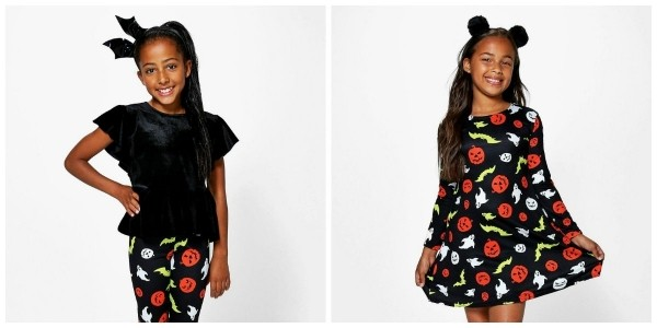 Girls Halloween Print Dress & Other Kids Halloween Clothing £2.99 Delivered Next Day @ Boohoo