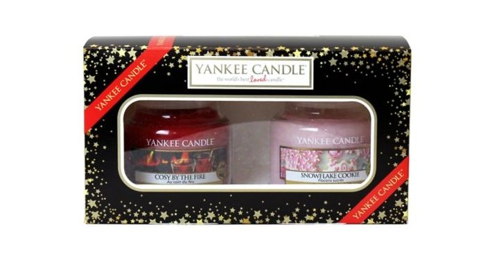 yankee candle christmas 2 small jar candle gift set. Black Bedroom Furniture Sets. Home Design Ideas