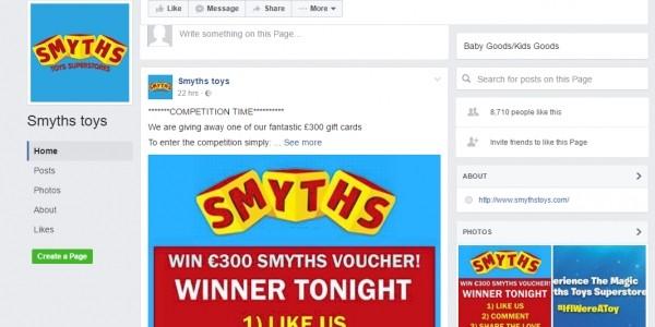 Scam Warning: Fake Facebook Page For Smyths Toys Superstores