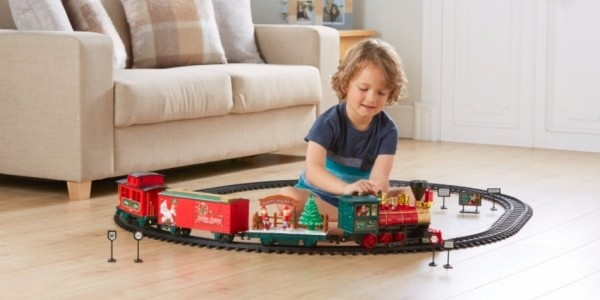 Battery Operated Deluxe Holiday Express Christmas Train Set £30 (was £50) @ Asda George