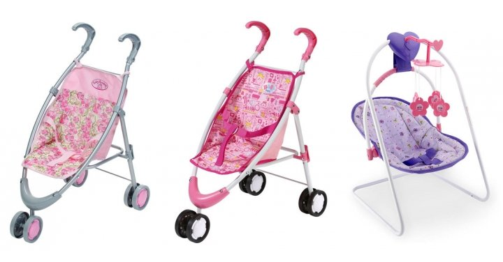 free stroller or swing  worth  u00a319 99  when you spend  u00a350 on baby annabell or baby born   toys r us