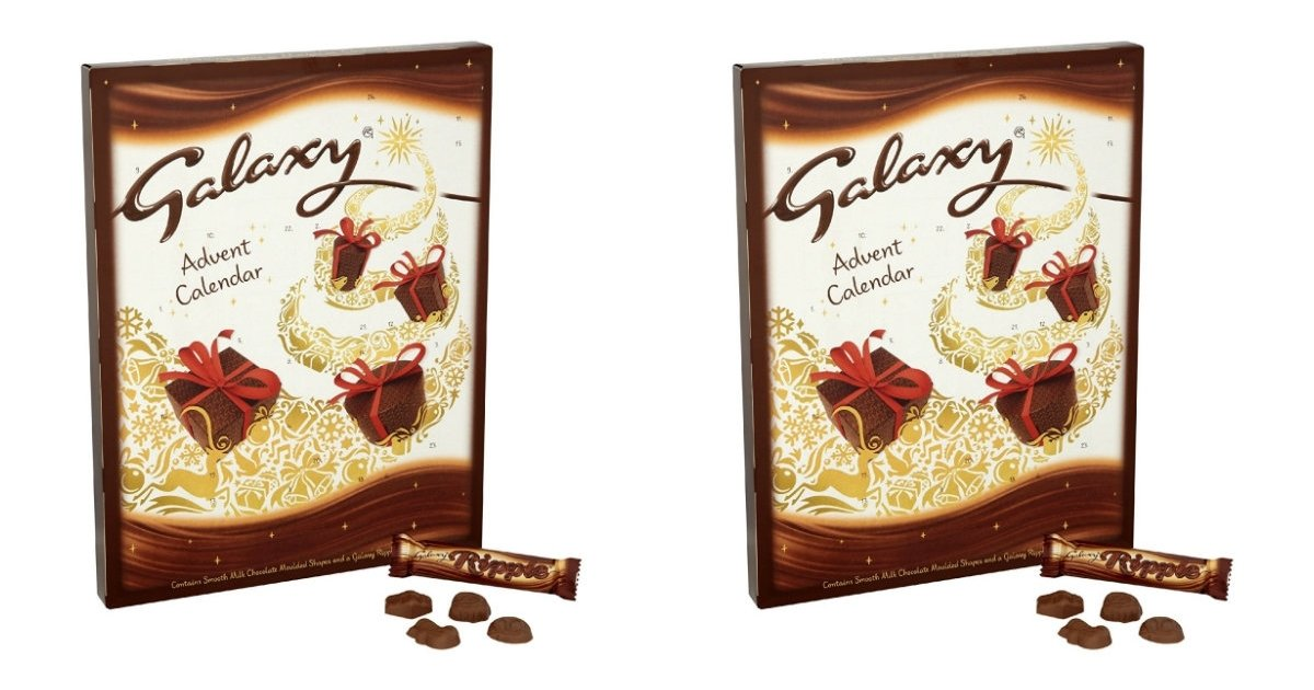 Advent Calendar Ideas Without Chocolate : Galaxy milk chocolate advent calendar g pack of £