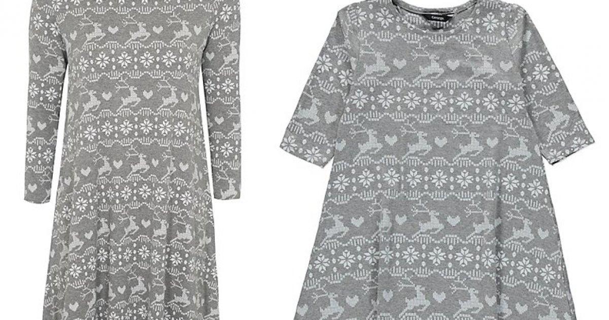 Matching Mother Amp Daughter Christmas Fairisle Dresses