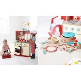 george home wooden kitchen and cooking set bundle. Black Bedroom Furniture Sets. Home Design Ideas