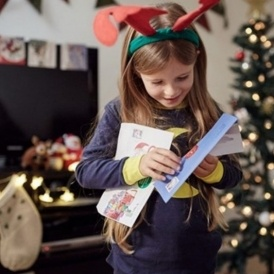 Personalised letter from santa with a donation to the nspcc spiritdancerdesigns Image collections