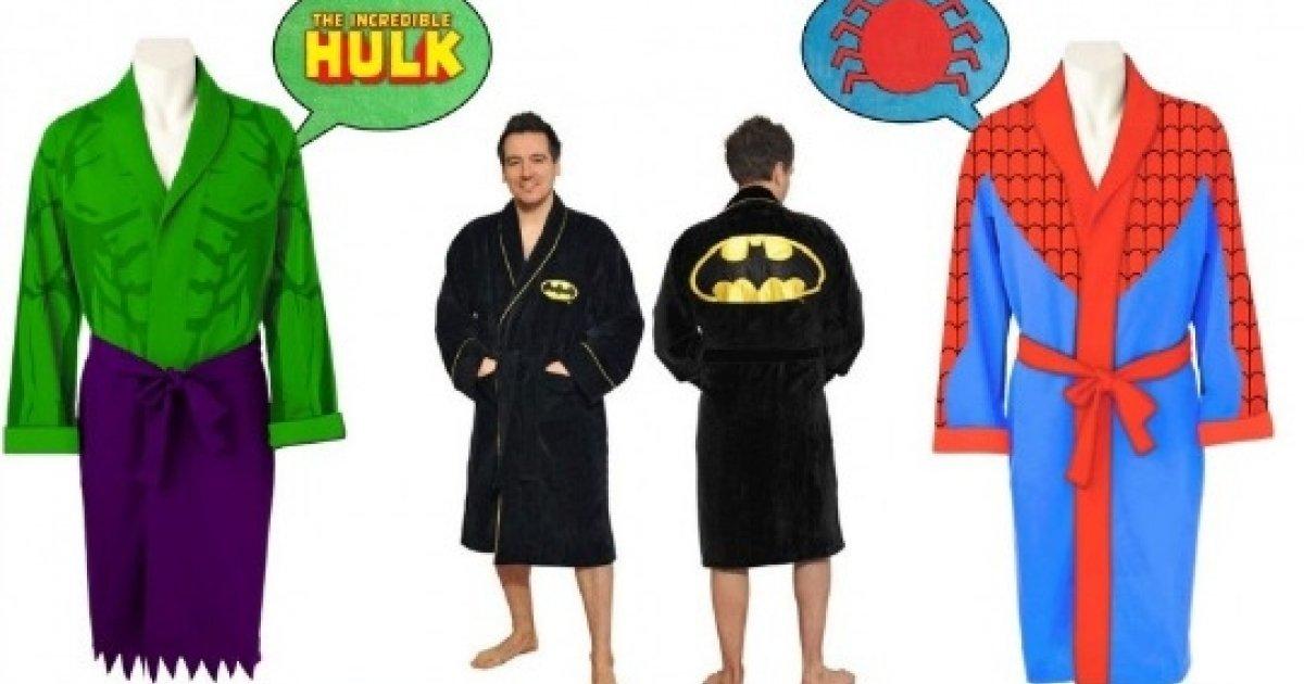 Men\'s Batman, Hulk and Spiderman Dressing Gowns: Half Price @ MenKind