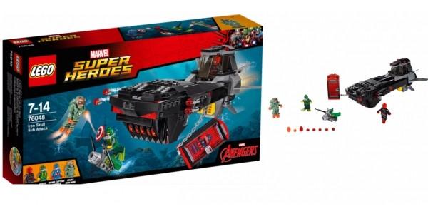 LEGO Super Heroes - Marvel Avengers Assemble Iron Skull Sub Attack - 76048 £15 @ Asda George