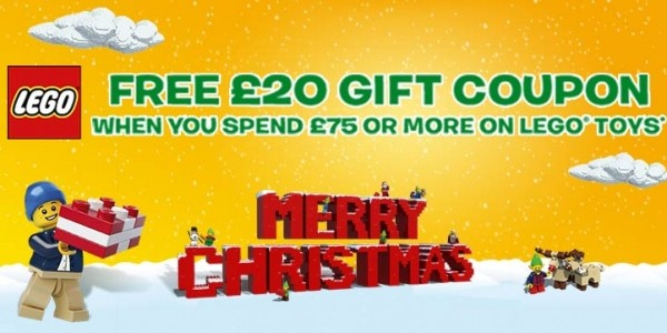 FREE £20 Lego Gift Coupon When You Spend £75 On Lego @ Toys R Us