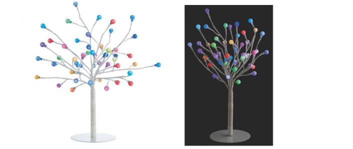 Habitat Daphne Colour Changing 48 LED Decorative Tree £14