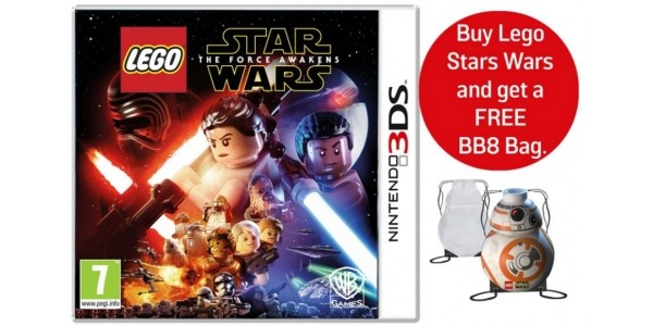 LEGO Star Wars: The Force Awakens 3DS Game + FREE BB8 Bag £11.99 @ Argos