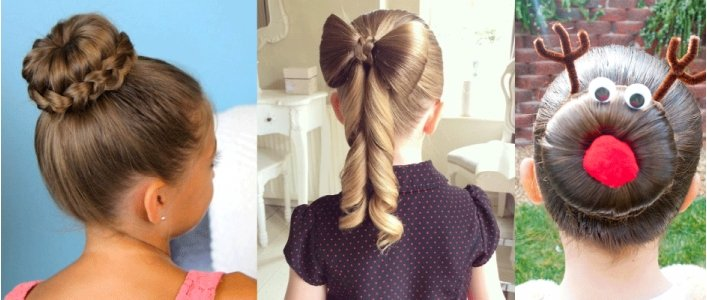 24 Easy Christmas Hairstyles For Girls One Each Day Of Advent