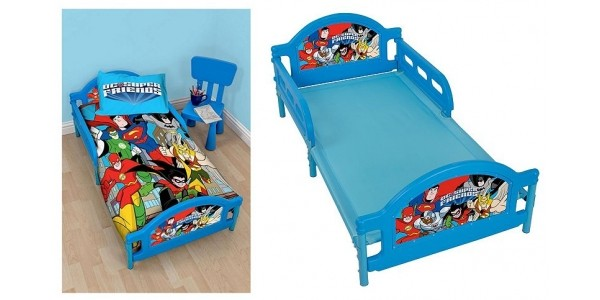DC Superfriends Toddler Bed (was £90) Now £35 Using Code @ Tesco Direct