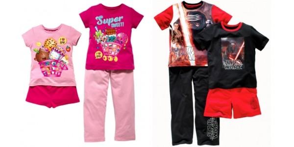 Shopkins / Star Wars 2 Pack Pyjamas £7.49 @ Argos