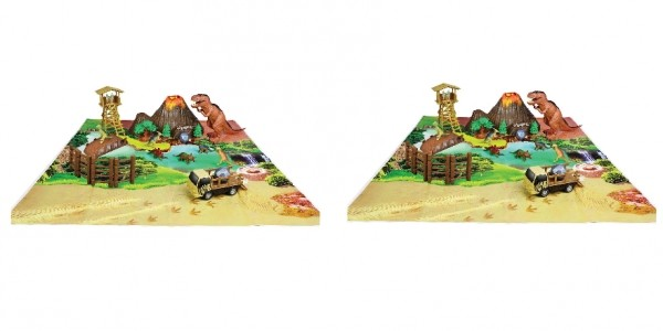 Large Dinosaur Park With Battery Operated T-Rex £18.99 @ Very