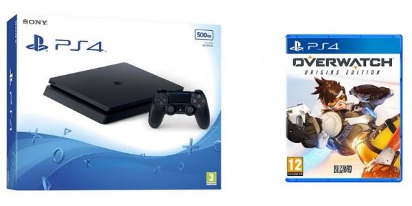 GLITCH: PS4 Slim 500GB & Overwatch Origins £195.35 @ Tesco Direct (Expired)