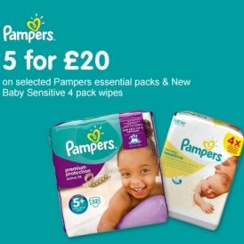 5 For £20 On Pampers @ Boots
