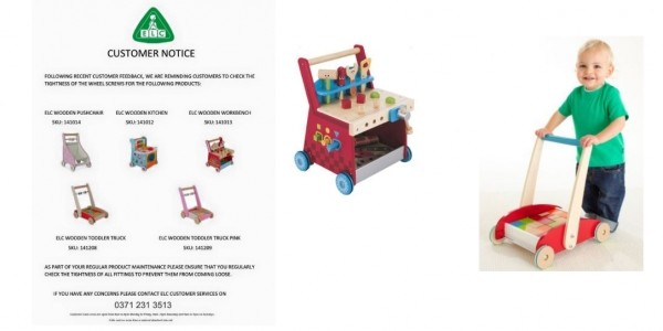 Customer Notice For ELC Wooden Walker Toys