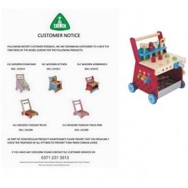 Customer Notice For ELC Wooden Walker Toys