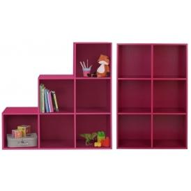 phoenix pink step storage 6 cube storage unit argos. Black Bedroom Furniture Sets. Home Design Ideas