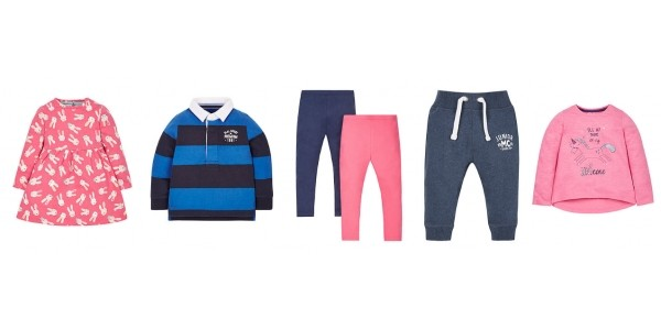 2 For £12 Mix and Match Kids Clothes @ Mothercare