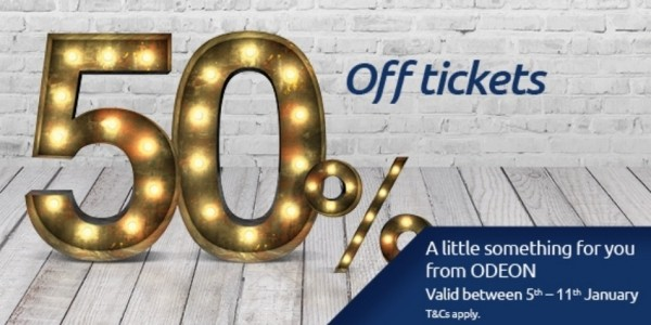 50% Off Odeon Cinema Tickets Using Code