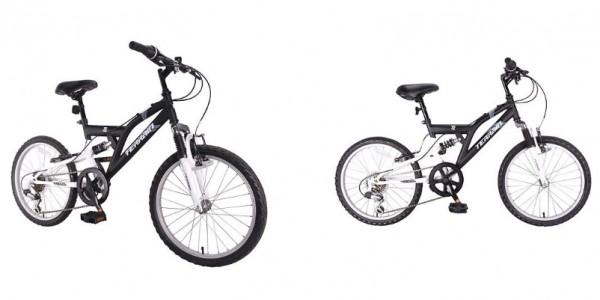 "Terrain Freemont 20"" Dual Suspension Boys 14"" Black Mountain Bike £45 @ Tesco Direct"
