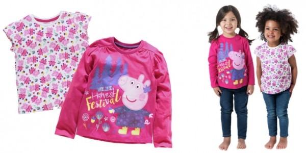 Peppa Pig 2 Pack of T-Shirts £3.99 @ Argos