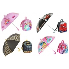 Kids Backpack & Umbrella Sets From £5.99