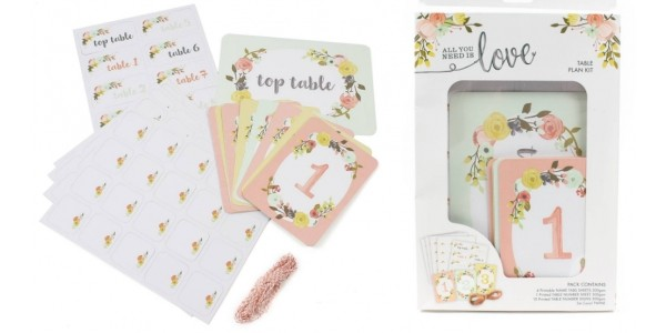 'All You Need Is Love' Wedding Table Plan Kit £6 @ Hobbycraft