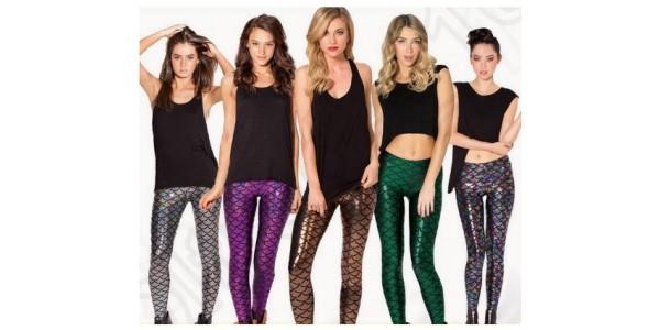 Metallic Mermaid Print Ladies Leggings £6.99 @ Go Groopie