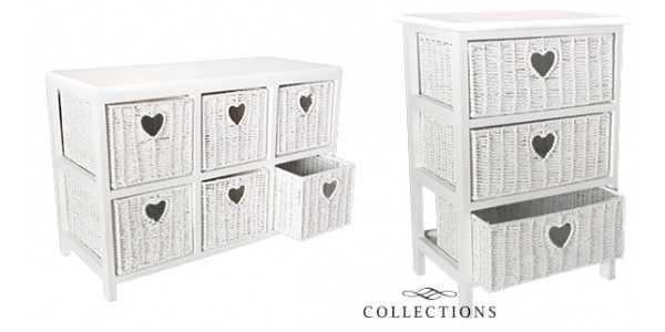White Woven Storage Units From £22.99 @ Home Bargains